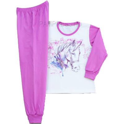 Pampress lila-fehér lovas pizsama