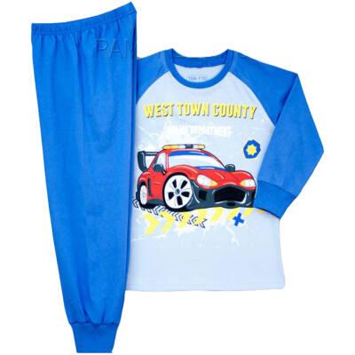 Pampress kék rendőrautós pizsama