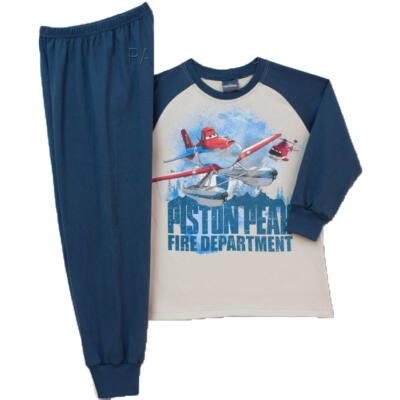 Pampress bézs-kék repülős pizsama