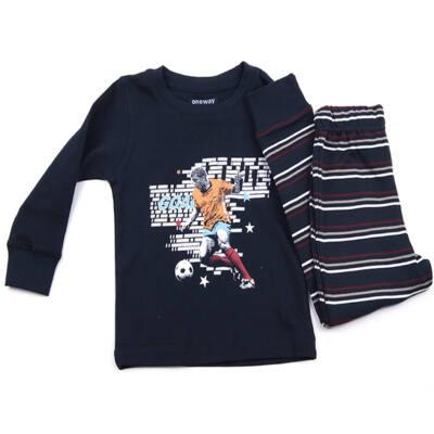 Oneway kék focis  pizsama