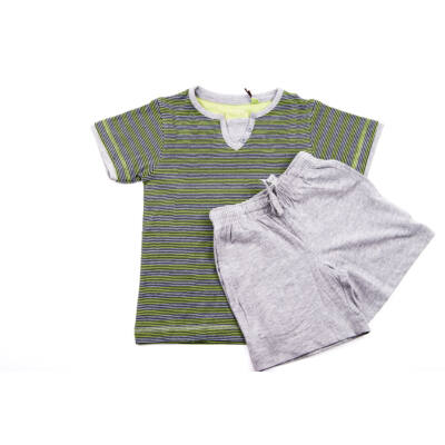 Oneway zöld csíkos fiú pizsama